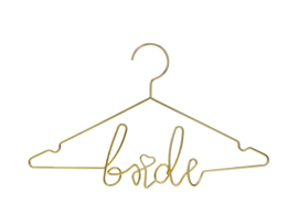 Kledinghanger Bride - Modern Wedding - Goud