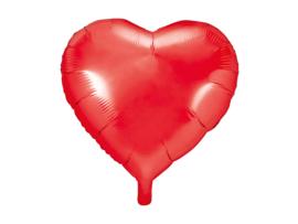 Folieballon Hart - 45 cm- 18 inch - Rood