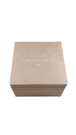 Houten Memorybox - Vierkant - L