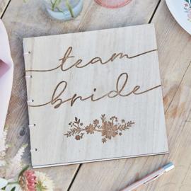 Team bride - Houten invulboek - Ginger Ray