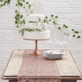 Tafelloper Pailletten roségoud - Beautiful Botanics - Ginger Ray-
