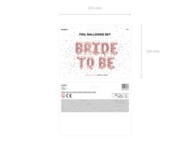 Folieballon BRIDE TO BE