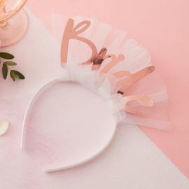 Haarband bride met sluier - Floral Hen Ginger Ray