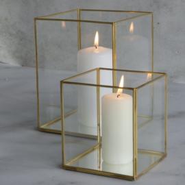 Gouden windlicht M - VERHUUR
