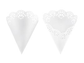 Confetti Cones Wit ( 10 stuks)