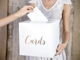 Enveloppendoos Cards goud