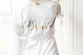Kimono Bruid / Bride Wit met kant