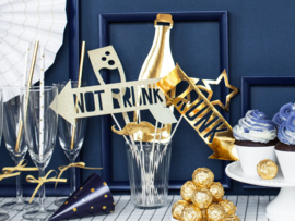 Photobooth Props Gold party ( 8 stuks)