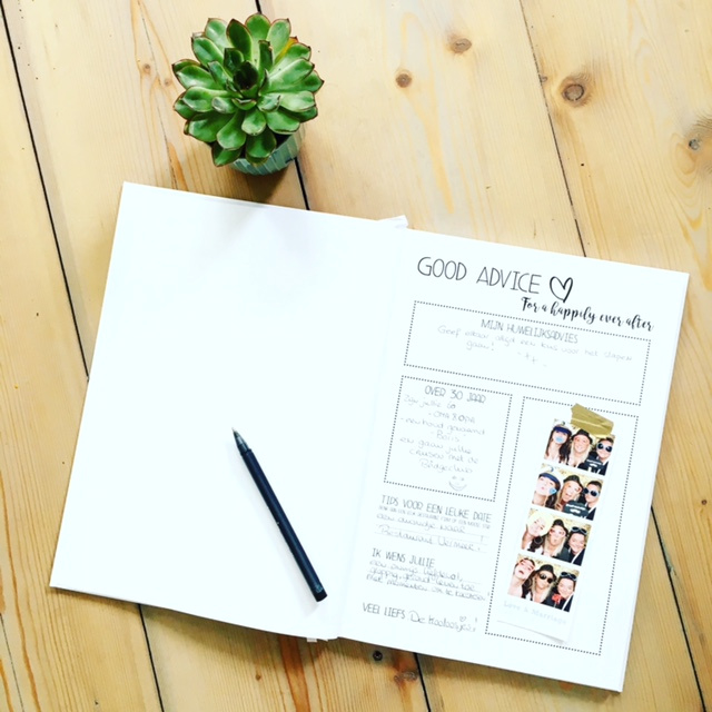 Beste Photobooth Gastenboek XL | Gepersonaliseerd gastenboek EH-67