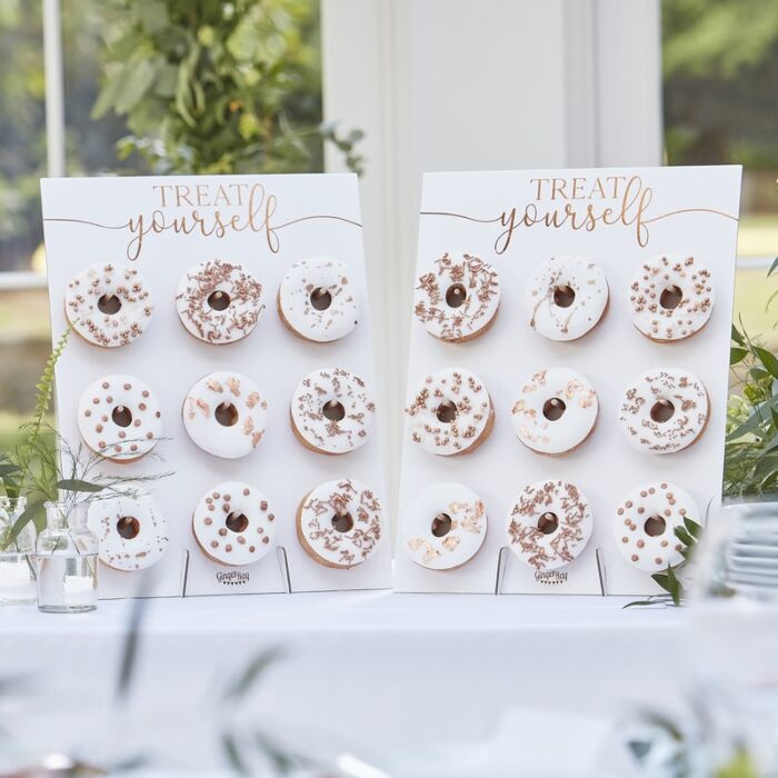 Dubbele Donut Wall Rosé-goud - Ginger Ray
