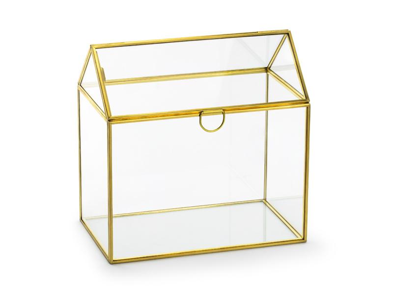 Glazen Enveloppen Huis - Goud - Glazen Enveloppen Doos  - Plain
