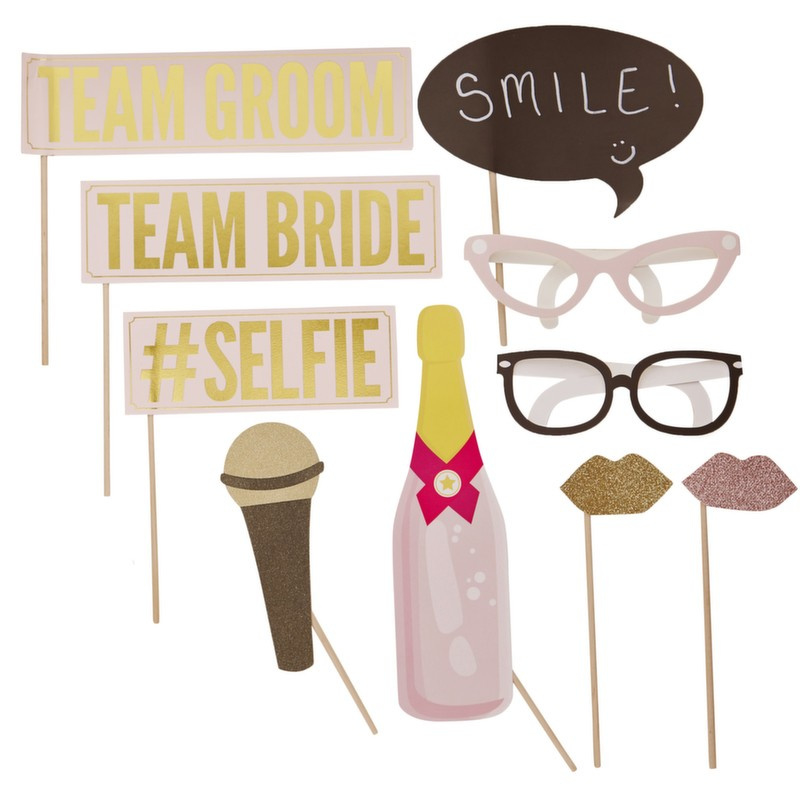 photobooth props - team bride /groom - ginger ray