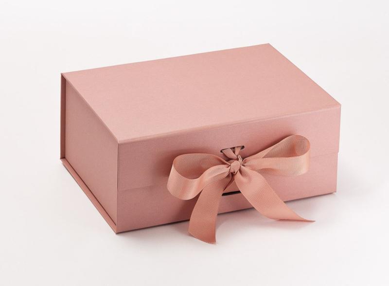 Giftbox zonder bedrukking Rose Goud Maat A5 Diep