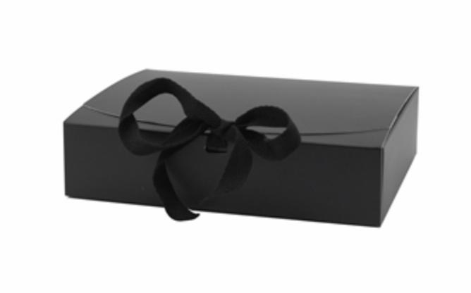 Giftbox Zwart - M -  Karton - (KD)