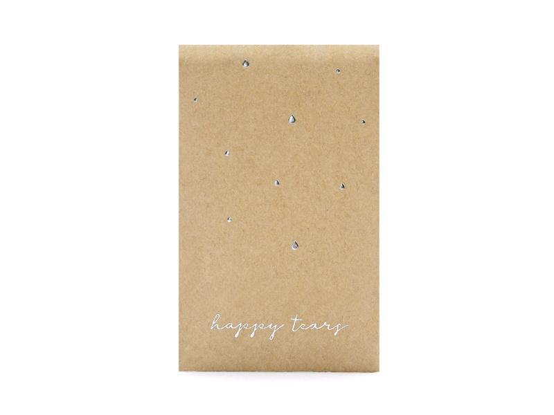 Happy Tears zakjes  Silver Dots kraft - 10 stuks -