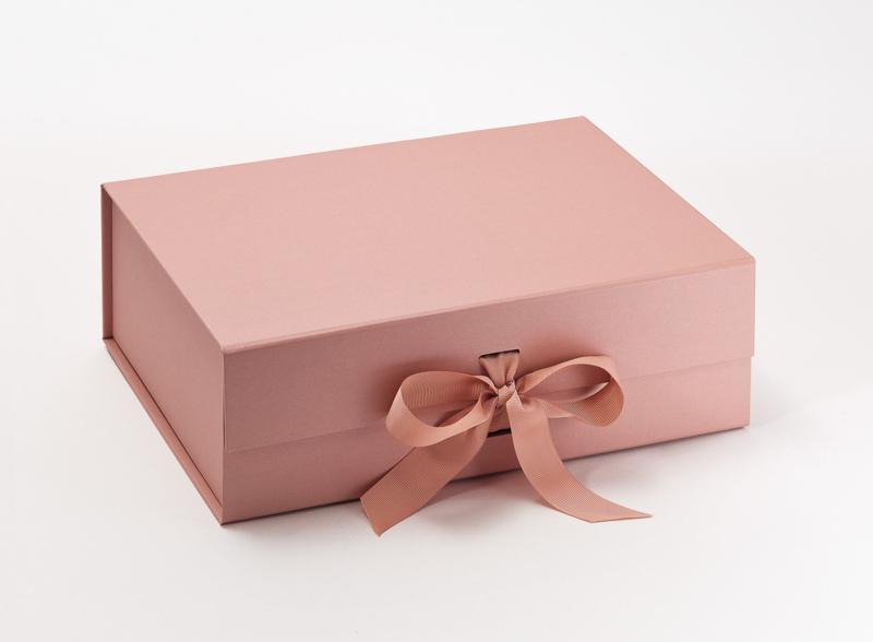 Giftbox zonder bedrukking Rose Goud Maat A4 Diep