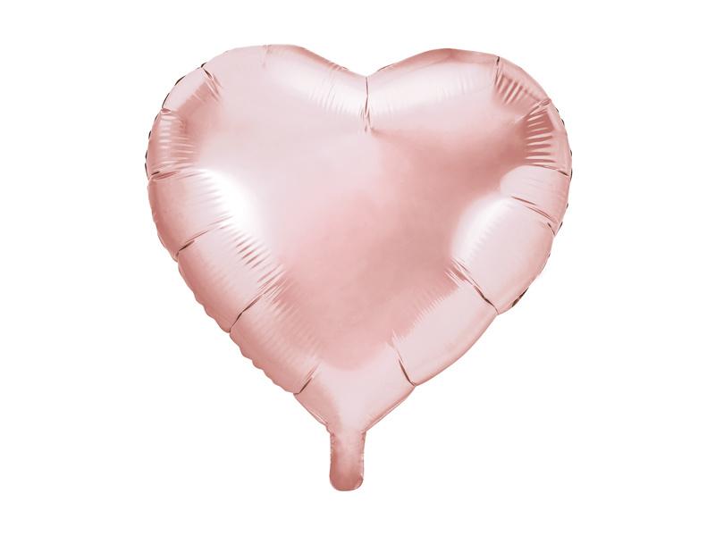 Folieballon Hart - 45 cm- 18 inch - Rosé goud