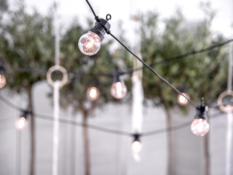 Led- Prikkabels 5m - 10 lampjes - Zwart