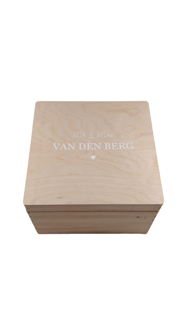 Houten Memorybox - Vierkant - L