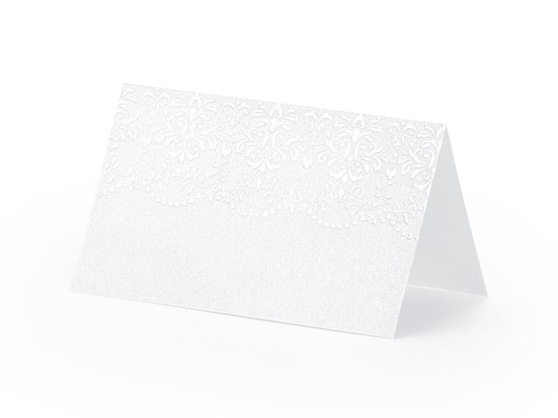 Naamkaartje kant - 10 stuks