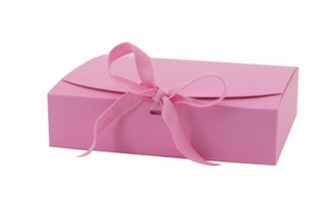 Giftbox roze  - M -  Karton - (KD)