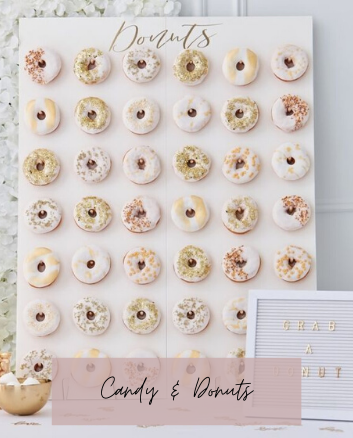 donut wall donuts bruiloft