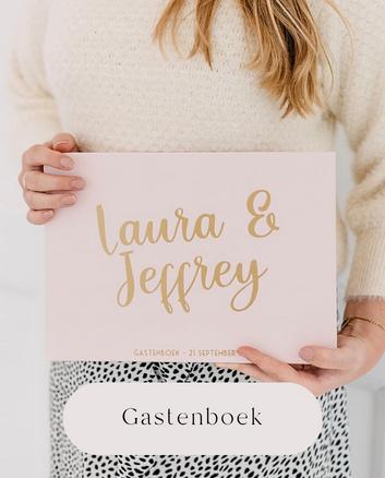 Gastenboek gepersonaliseerd bruiloft