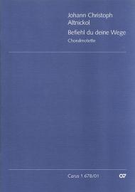 Befiehl du deine Wege : Motette für gem Chor a cappella - Atnickol
