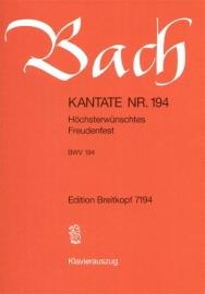 Höchsterwünschtes Freudenfest , Kantate 194 BWV194- Bach | Breitkopf