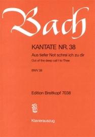 Aus tiefer Not schrei ich zu dir / Kantate Nr.38 BWV38 - Bach | Breitkopf