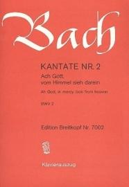 Ach Gott vom Himmel sieh darein/ Kantate Nr.2 BWV2 - Bach - Breitkopf