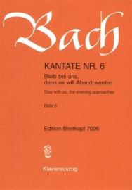 Bleib bei uns denn es will Abend werden : Kantate  BWV6-Bach | Breitkopf