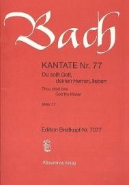 Du sollt Gott deinen Herren lieben/ Kantate Nr.77 BWV77 -Bach - Breitkopf