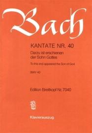 Dazu ist erschienen der Sohn Gottes , Kantate 40 BWV40 - Bach | Breitkopf