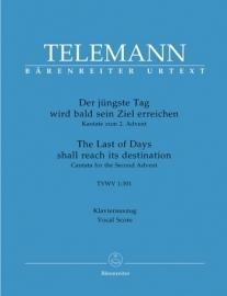 Der jüngste Tag wird bald sein Ziel erreichen- Telemann | Barenreiter
