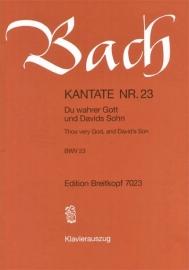 Du wahrer Gott und Davids Sohn Kantate 23 BWV23- Bach | Breitkopf