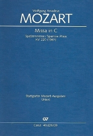 Missa brevis C-Dur KV220 - Mozart | Carus