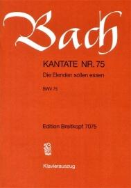 Die Elenden sollen essen , Kantate 75 BWV75 - Bach | Breitkopf