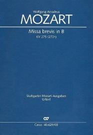 Missa brevis B-Dur KV275 - Mozart | Carus