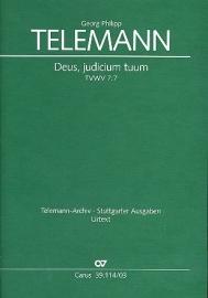 Deus judicium tuum TVWV7:7- Telemann | Carus