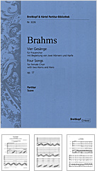 Brahms - Vier Gesänge | vrouwenkoor
