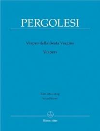 Vespro della Beata Vergine- Pergolesi | Barenreiter