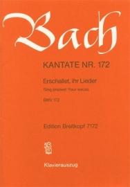 Erschallet ihr Lieder : Kantate  BWV172- Bach | Breitkopf