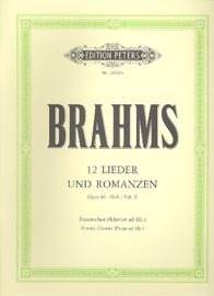 Brahms - 12 Lieder und Romanzen op. 44 | vrouwenkoor