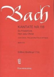 Du Friedefürst Herr Jesu Christ , Kantate 116 BWV116- Bach | Breitkopf