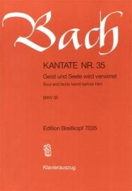 Geist und Seele wird verwirret : Kantate BWV35-Bach | Breitkopf