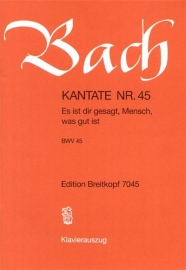 Es ist dir gesagt Mensch was gut ist , Kantate 45 BWV45 - Bach | Breitkopf
