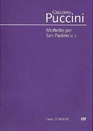 Mottetto per San Paolino SC2 - Puccini | Carus