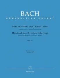Herz und Mund und Tat und Leben , Kantate 147 BWV147 - Bach | Barenreiter