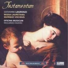 Testamentum - Missa Lauretana Quinque Vocibus- Legrenzi | CD